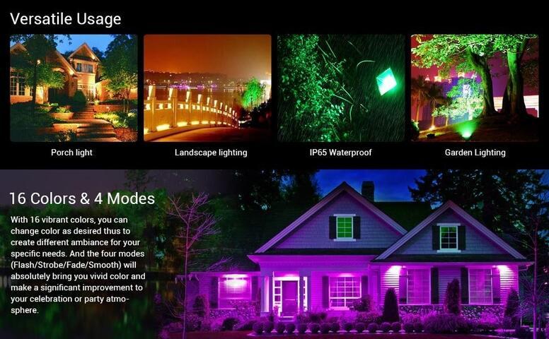 50w color changing led flood light