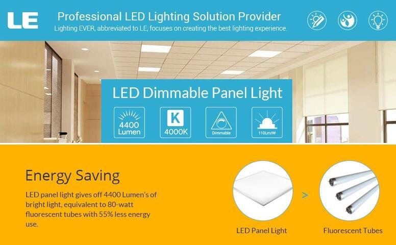 led troffer flat panel lights