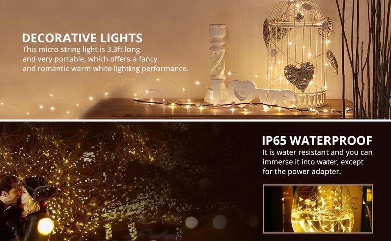 decorative copper wire string lights