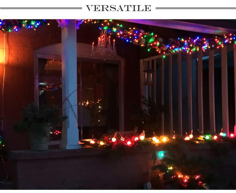 33ft 100 LEDs Globe Ball Fairy String Lights for lawn, porch, gate