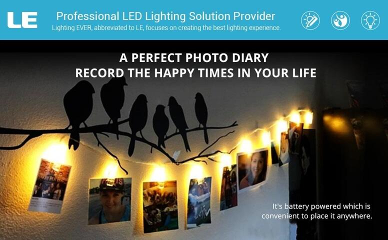 9.84ft photo clips string light