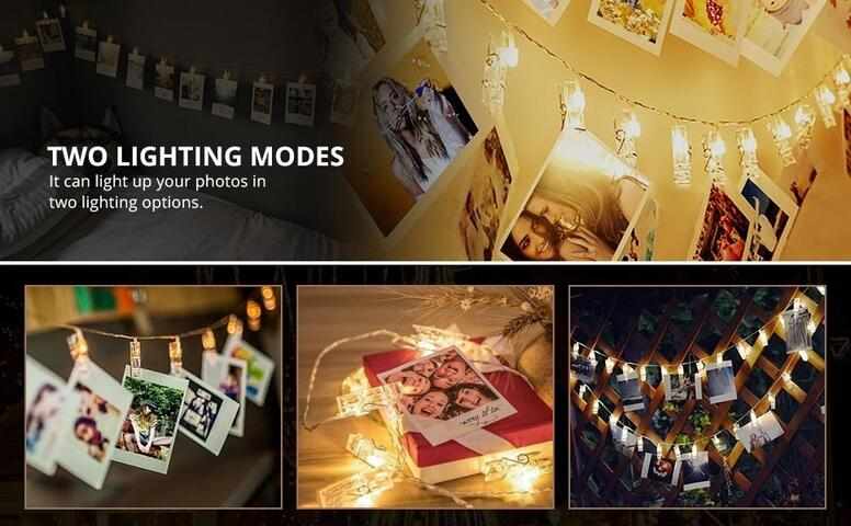 warm whit led clips lights
