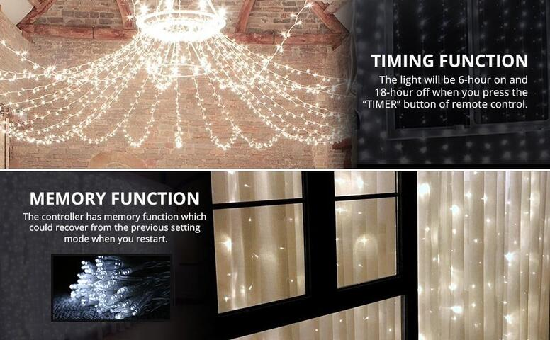 daylight white led curtain lights