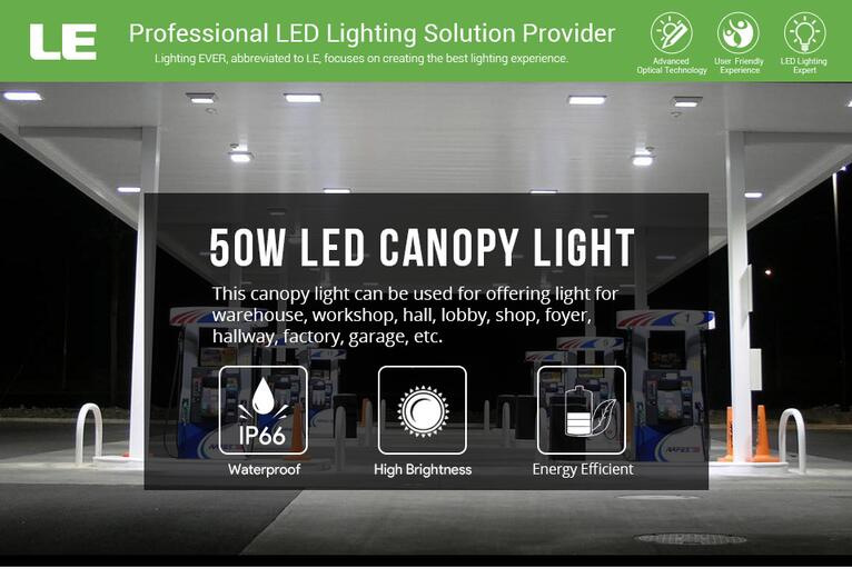 50W LED Canopy Lights for commercial