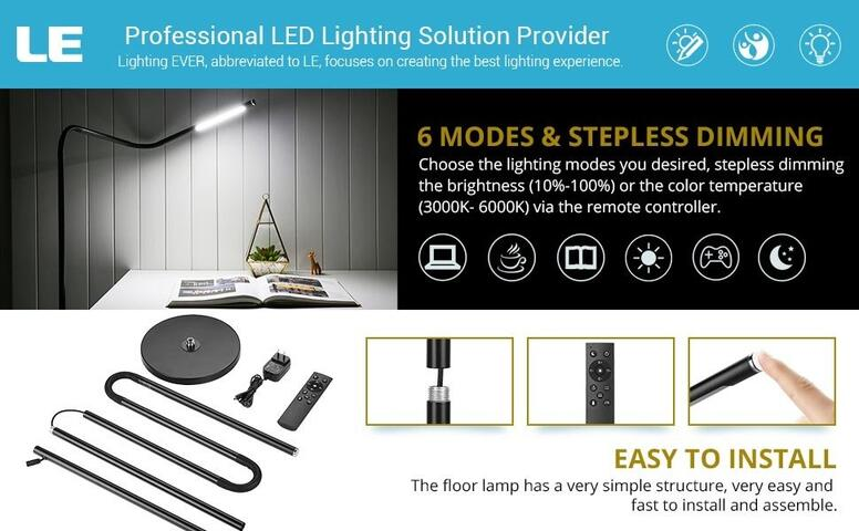 6w dimmable led floor lamp
