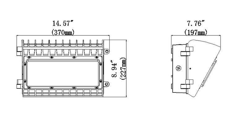 150W Semi-cutoff LED Wall Pack Light