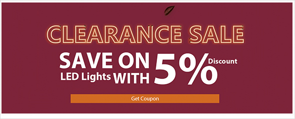 2019 5% LE CLEARANCE PROMOTION