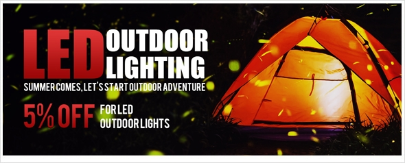 LED OUTDOOR LIGHTS - Extra 5% Off Coupon