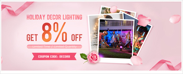 Holiday Decor Lights, Get 8% OFF Coupon